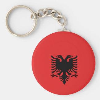Albania All over design Basic Round Button Keychain