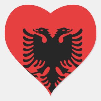 Albania All over design Heart Sticker