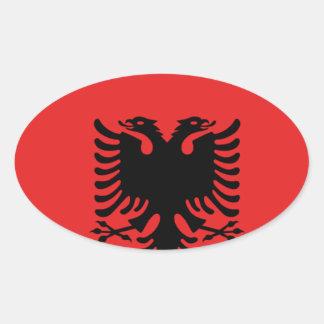 Albania All over design Oval Sticker