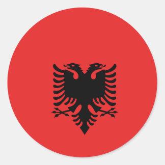 Albania All over design Round Sticker