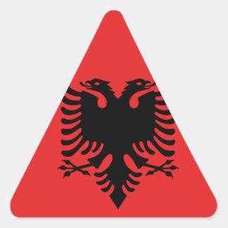 Albania All over design Triangle Sticker