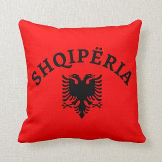 Albania and eagle - Shqiperia dhe shqiponja Throw Pillow