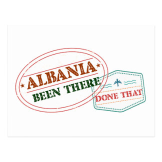 Albania Been There Done That Postcard
