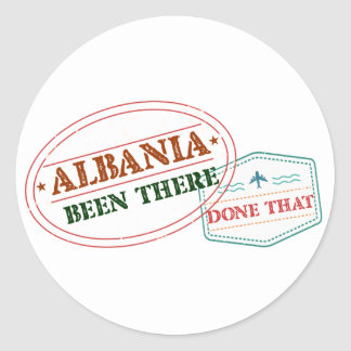 Albania Been There Done That Round Sticker