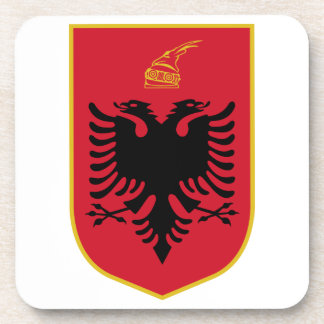 Albania Coat Of Arms Drink Coaster