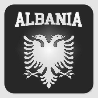 Albania Coat of Arms Square Sticker