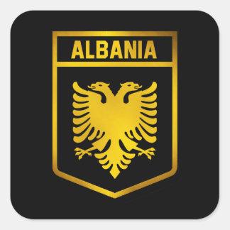 Albania Emblem Square Sticker