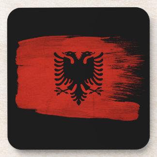 Albania Flag Beverage Coaster