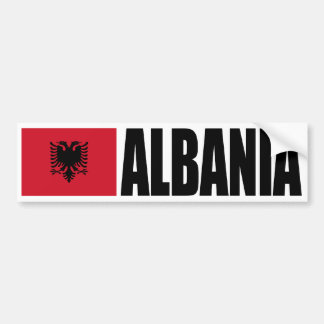 Albania Flag Bumper Sticker