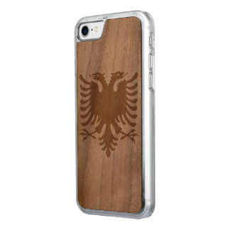 Albania Flag Carved iPhone 8/7 Case