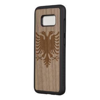 Albania Flag Carved Samsung Galaxy S8 Case