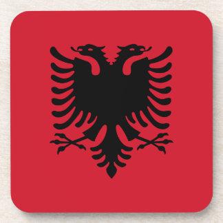 Albania Flag Cork Coaster