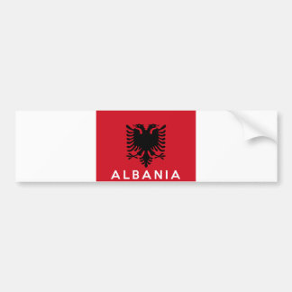 albania flag country text name bumper sticker