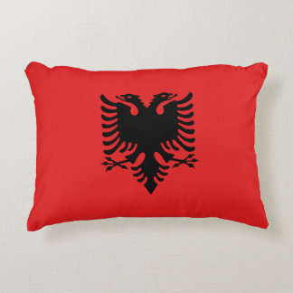 Albania Flag Decorative Pillow