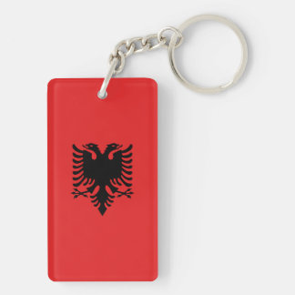 Albania Flag Double-Sided Rectangular Acrylic Keychain