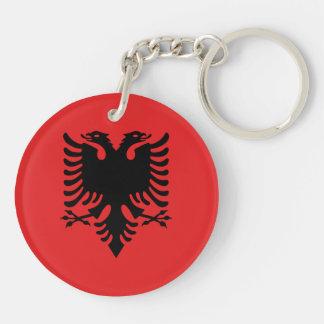 Albania Flag Double-Sided Round Acrylic Keychain