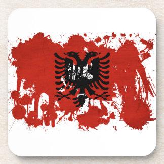 Albania Flag Drink Coaster
