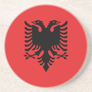 Albania Flag Drink Coaster