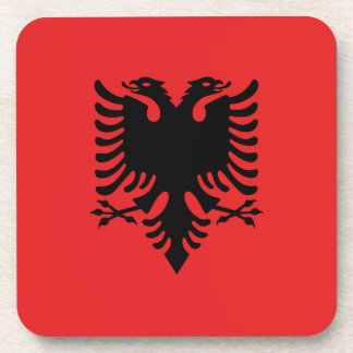Albania Flag Drink Coasters