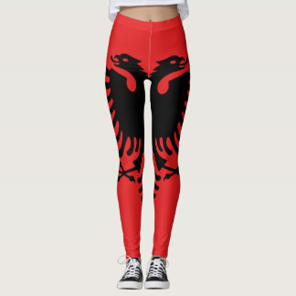 Albania Flag full Leggings