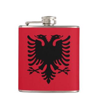 Albania Flag Hip Flask