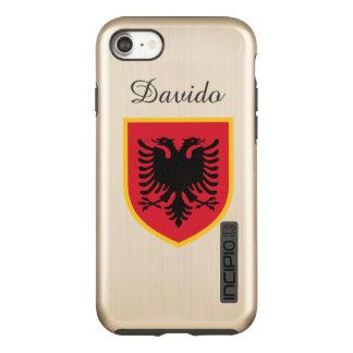 Albania Flag Incipio DualPro Shine iPhone 8/7 Case