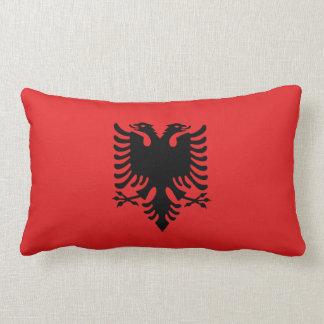 Albania Flag Lumbar Pillow