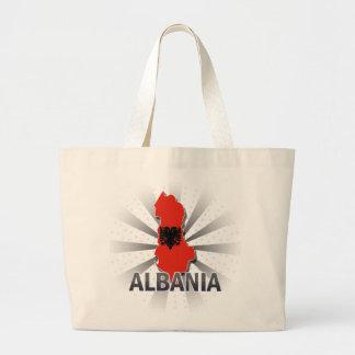 Albania Flag Map 2.0 Large Tote Bag