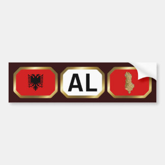 Albania Flag Map Code Bumper Sticker
