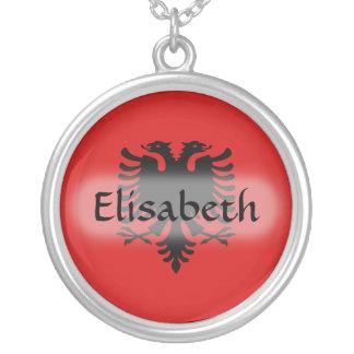 Albania Flag + Name Necklace
