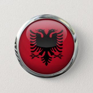 Albania Flag Round Glass Ball 2 Inch Round Button