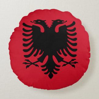 Albania Flag Round Pillow