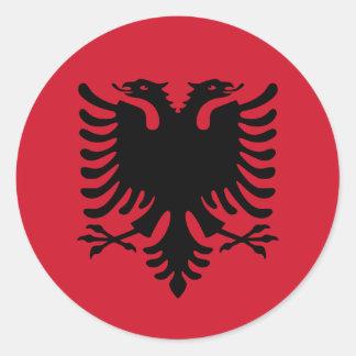 Albania Flag Round Stickers