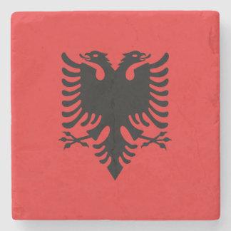 Albania Flag Stone Coaster