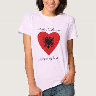 Albania Flag Sweetheart T-Shirt
