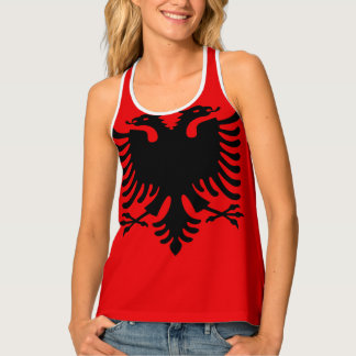 Albania Flag Tank Top