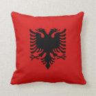 Albania Flag x Flag Pillow