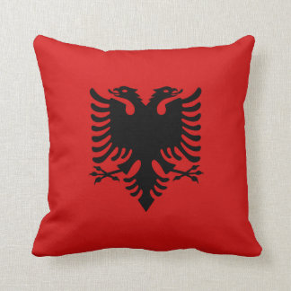 Albania Flag x Flag Pillow