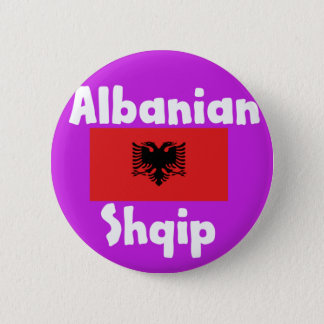 Albania Language And Flag Design 2 Inch Round Button