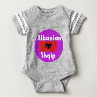 Albania Language And Flag Design Baby Bodysuit