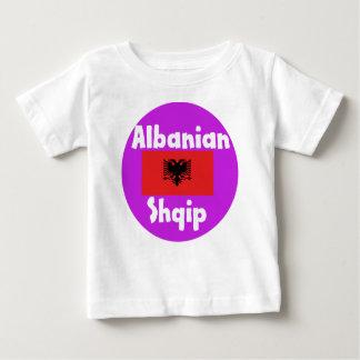 Albania Language And Flag Design Baby T-Shirt