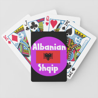 Albania Language And Flag Design Bicycle Playing Cards