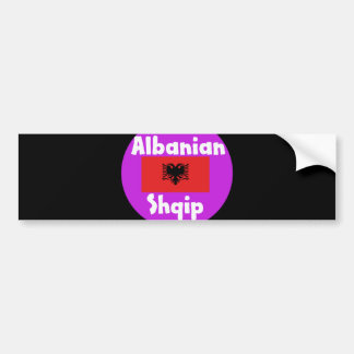 Albania Language And Flag Design Bumper Sticker