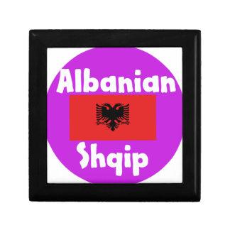 Albania Language And Flag Design Gift Box