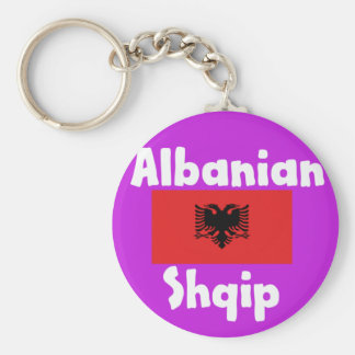Albania Language And Flag Design Keychain