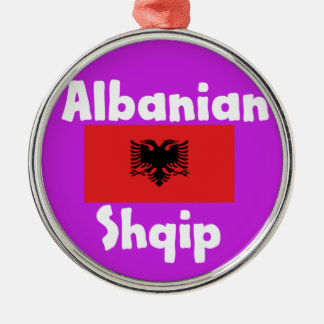 Albania Language And Flag Design Metal Ornament