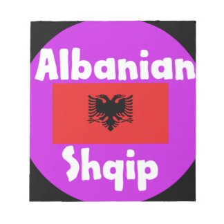 Albania Language And Flag Design Notepad