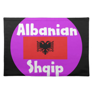 Albania Language And Flag Design Placemat
