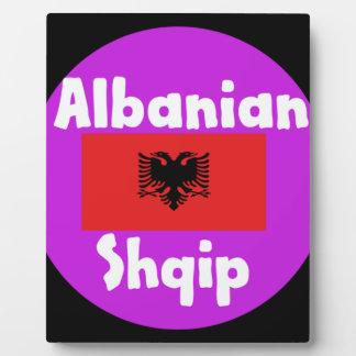 Albania Language And Flag Design Plaque