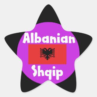 Albania Language And Flag Design Star Sticker